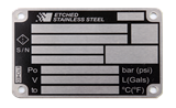 Stainless Steel Etched Label