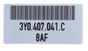 Barcode labels for unique identification